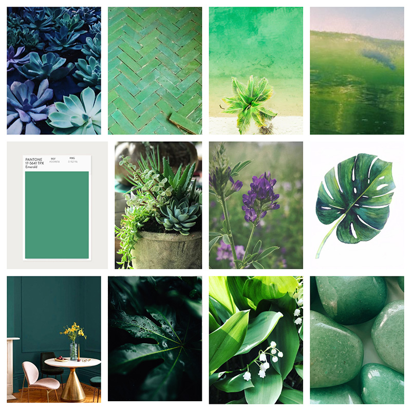 Clare Howell Design Green Moodboard
