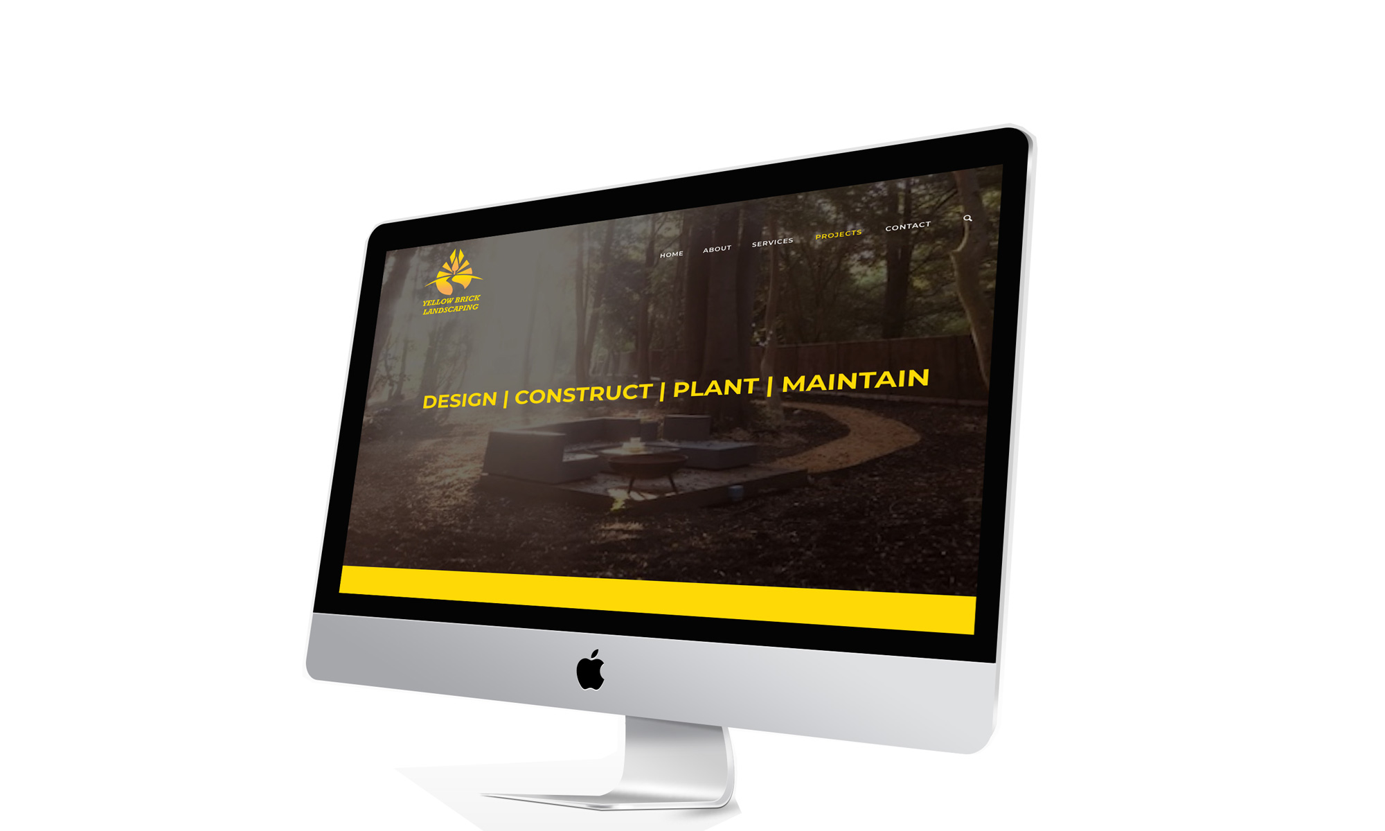 Yellow Brick Landscaping One Page Website